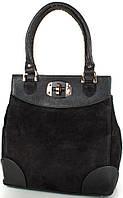 Красивая женская сумка из натуральной замши и качественного кожезаменителя МІС MS05262-black (черный)