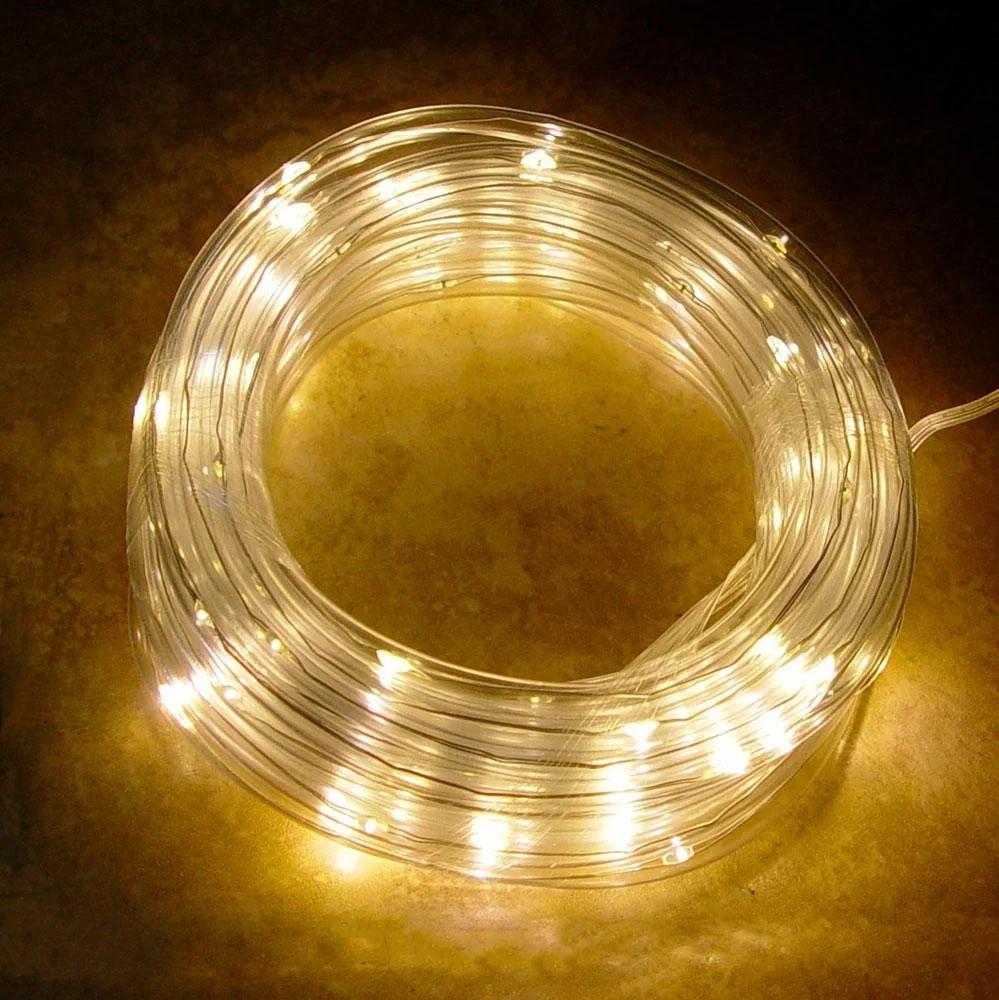 Гирлянда USB Xmas Pipe 7298 100 LED WW-3, 10 м, желтый свет