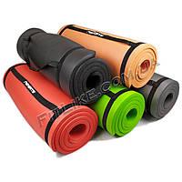 Коврик PRO NBR 10мм для йоги и фитнеса, каремат для тренировок и туризма из вспененного каучука