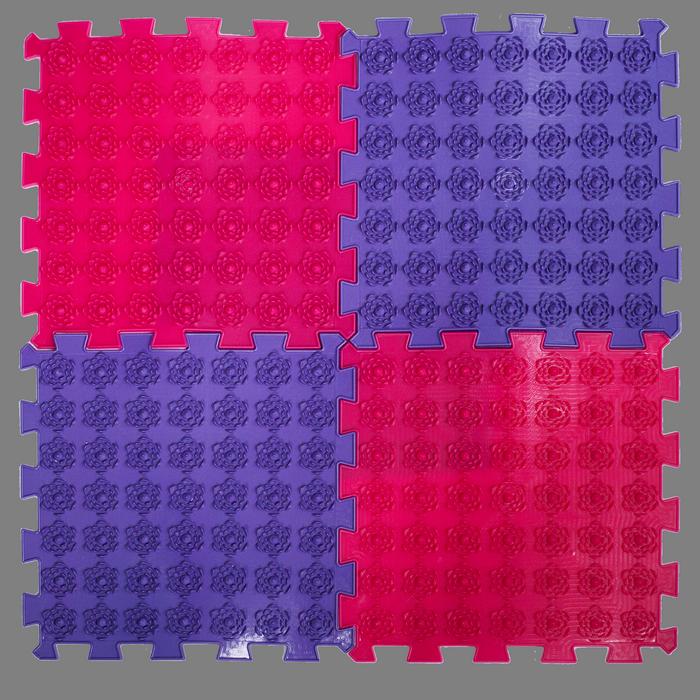 Акупунктурный массажный коврик Лотос 4 элемента