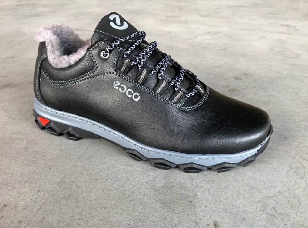 Ботинки кроссовки зимние на меху черные 43,45 размер