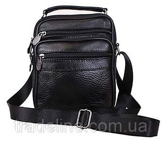 Мужская кожаная сумка барсетка с ручкой 2020BL