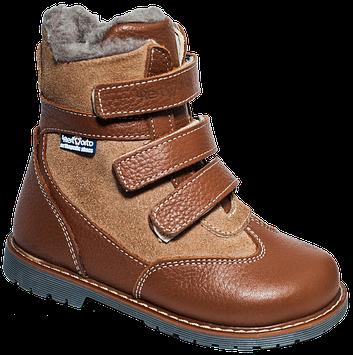 Шкіряні ортопедичні зимові черевики для дітей 06-7621 р-н. 21-30