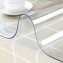 М'яке скло 0.6 мм 85*115 см прозора силіконова скатертину на стіл, ПВХ Силіконова скатертину, фото 4