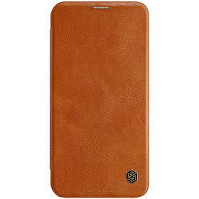 "Кожаный чехол (книжка) Nillkin Qin Series для Apple iPhone 12 Pro Max (6.7"")"