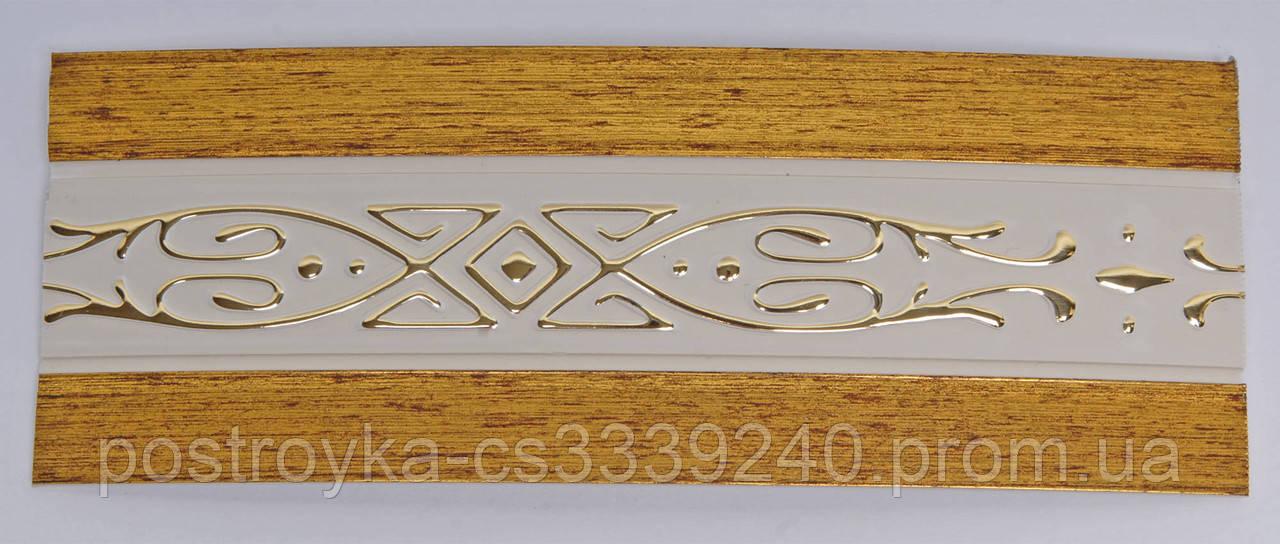 Лента декоративная на карниз, бленда Виктория Античное золото 70 мм на усиленный потолочный карниз КСМ