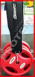 Пояс для отягощений 90 см до 150 кг черный, фото 4