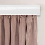 Лента декоративная на карниз, бленда Виктория Коричневая 70 мм на усиленный потолочный карниз КСМ, фото 4