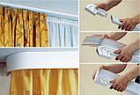 Лента декоративная на карниз, бленда Виктория Коричневая 70 мм на усиленный потолочный карниз КСМ, фото 6