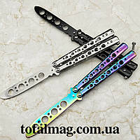 Нож бабочка(складной) тренировочный(тупой) 3-x цветов