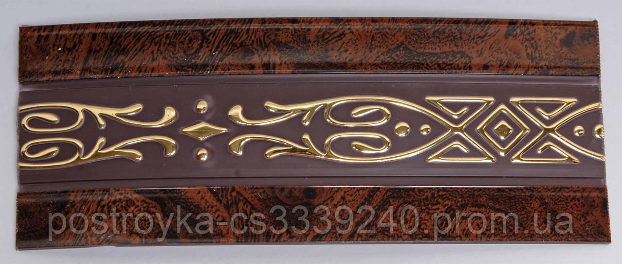 Лента декоративная на карниз, бленда Виктория Коричневая 70 мм на усиленный потолочный карниз КСМ