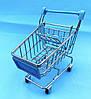 Міні візок на коліщатках металева блакитна, фото 2