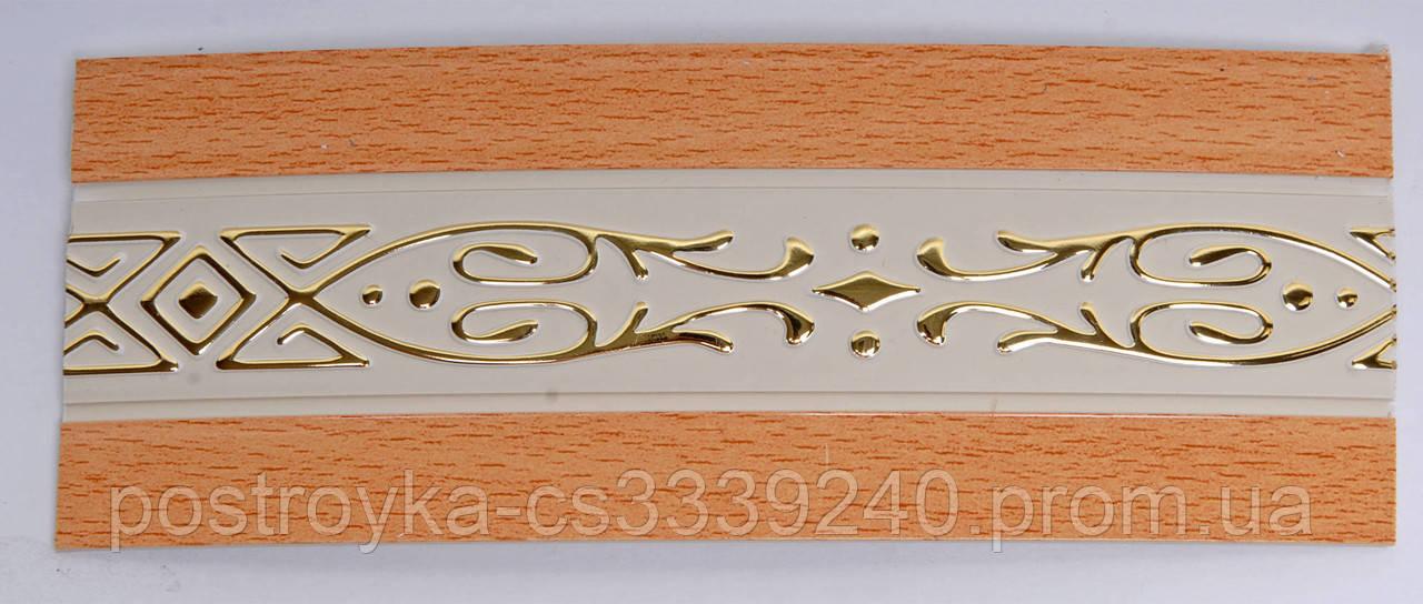 Лента декоративная на карниз, бленда Виктория Бук 70 мм на усиленный потолочный карниз КСМ