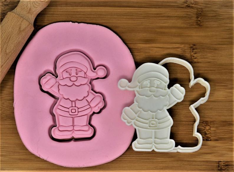Новогодняя 3D формочка+каттер Дед Мороз мультяшный | Новогодняя вырубка | Вырубка для печенья новогодняя