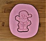 Новогодняя 3D формочка+каттер Дед Мороз мультяшный | Новогодняя вырубка | Вырубка для печенья новогодняя, фото 2