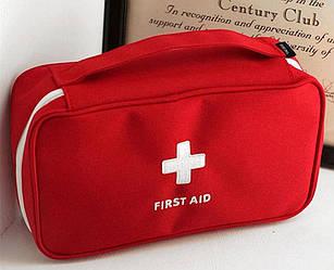 Аптечка красная FirstAid (чехол без содержимого) 23x13x7см