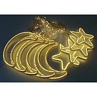 Гирлянда Xmas Copper curtain 7260 9WW-1, 3x0.7 м, желтый свет