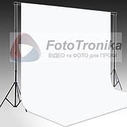 2.2*3м Фон виниловый белый МАТОВЫЙ с люверсами Super White, фото 2