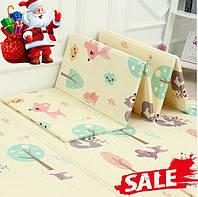 Детский раскладывающийся коврик Folding baby mat 180* 150см .Детский развивающий термоковрик.