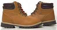 Зимние ботинки на мальчика,коричневого цвета 33-34размер