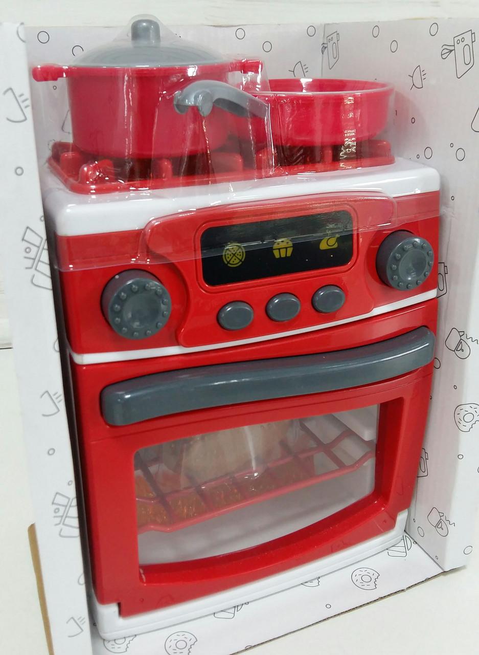 """Дитяча кухонна плита """"My Little Home"""" 3229 М, 22 см, звук, світло, посуд"""