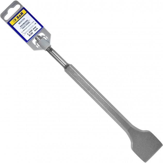 Зубило для перфоратора SDS-plus 40 х 250 мм S&R Meister