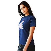 Футболка женская Be wise темно-синяя 44 (M)