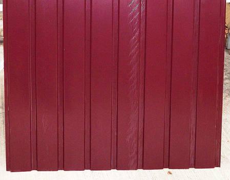 Профнастил ПС-8 Альбатрос, цвет: вишня, 2 м Х 0,95м, 9-ть волн, в пленке, фото 2