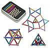 Неокуб магнитные шарики Neo MIX COLOR (36 цветных палочек и 24 шарика-металлик) магнитный конструктор (NV)