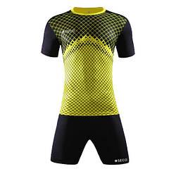 Форма футбольная SECO Geometry Set цвет: черный, желтый