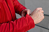 Мужская зимняя парка Nike red, красная парка Найк, фото 7