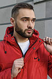 Мужская зимняя парка Nike red, красная парка Найк, фото 6