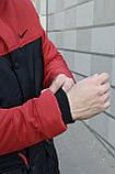 Мужская зимняя парка Nike red/black, красная парка Найк, фото 4