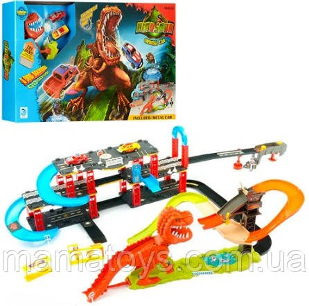 Трек 8899-93 Динозавр поймай тачку, машинки 2шт,