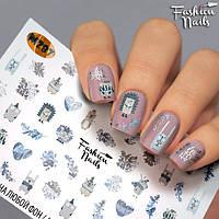 Декор ногтей Слайдер-дизайн наклейки для дизайна ногтей слайдеры для маникюра водные Fashion Nails М287