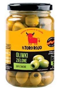 Іспанські оливки зелені El Toro Rojo без кісточки, 340г