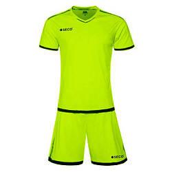 Форма футбольная SECO Basic Set цвет: салатовый, черный