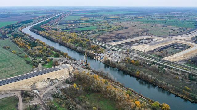 Мост через канал Днепр-Донбасс трассы Днепр-Решетиловка -1