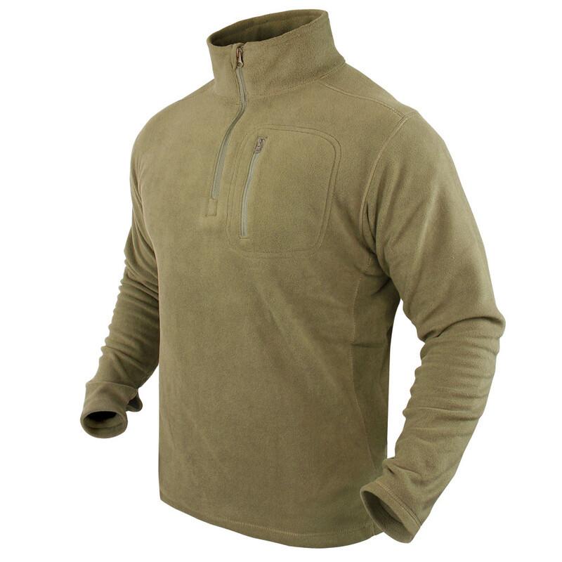 Оригинал Флисовый пуловер Condor 1/4 Zip Fleece Pullover 607 XX-Large, Олива (Olive)
