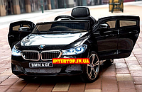 Детский электромобиль BMW GT i640 БМВ Лицензия на пульте радиоуправления черный