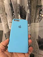 Чехол на айфон 7 плюс(Голубой)накладка бампер силиконовый