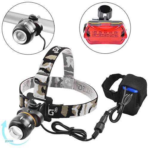 Задний и передний фонарь для велосипеда под сидение фонарик светодиодный