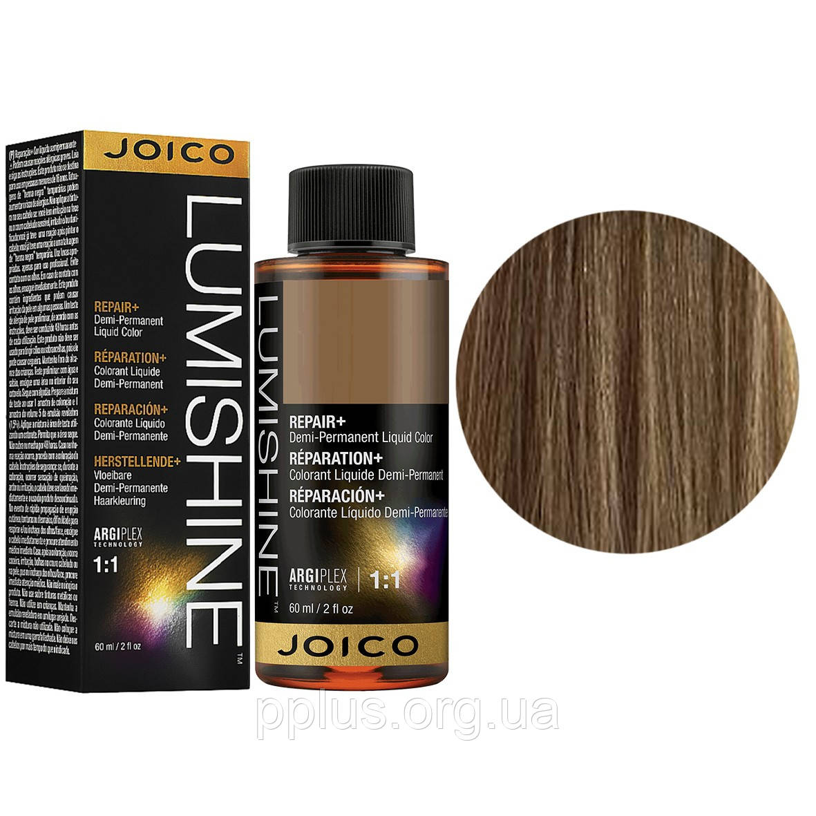 Жидкий тонер 8NG/8.03 Joico LumiShine Demi-Liquid блондин натуральный золотистый 60 мл