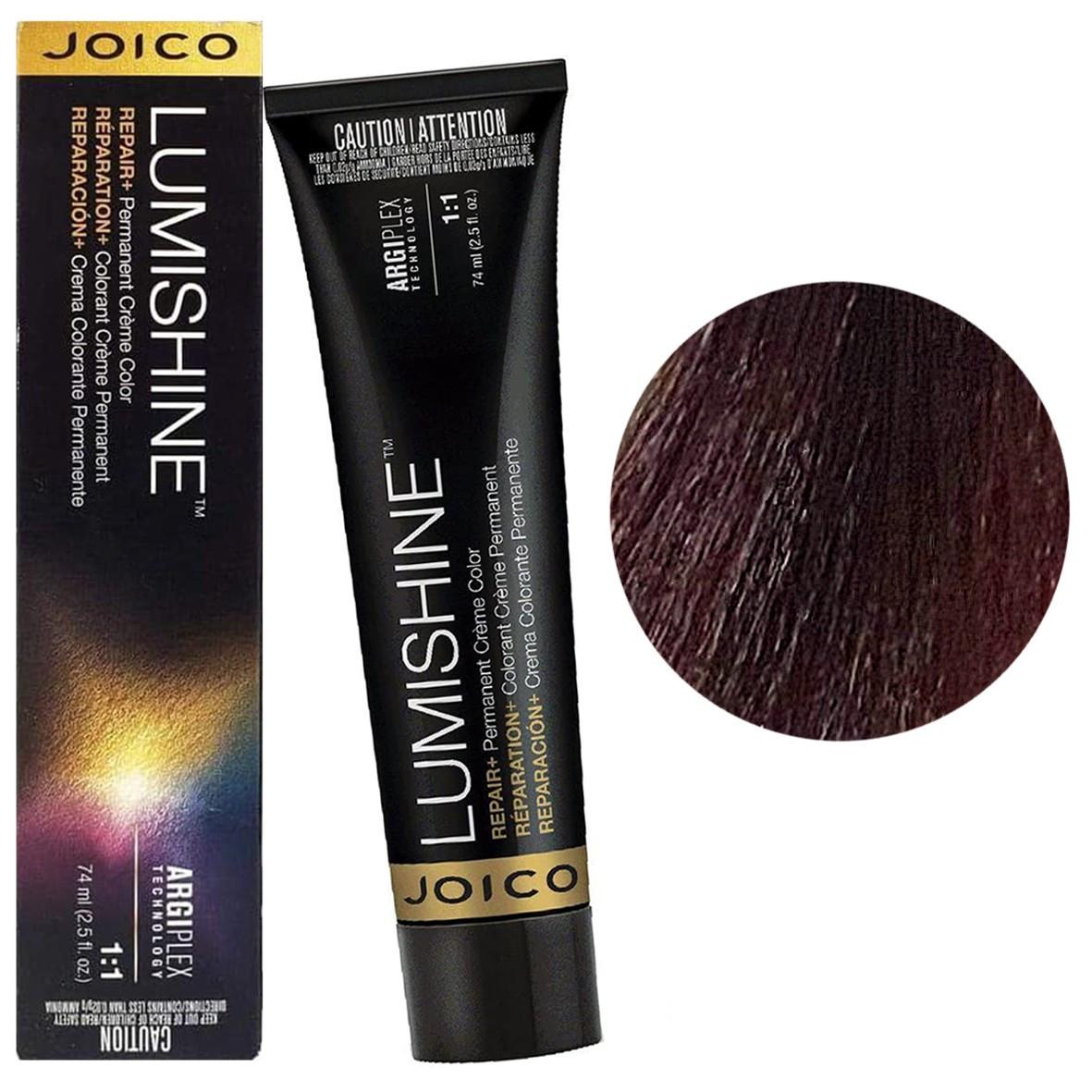 Краска для волос 3RR/3.66 Joico Lumishine Color темно-коричневый ярко-красный 74 мл