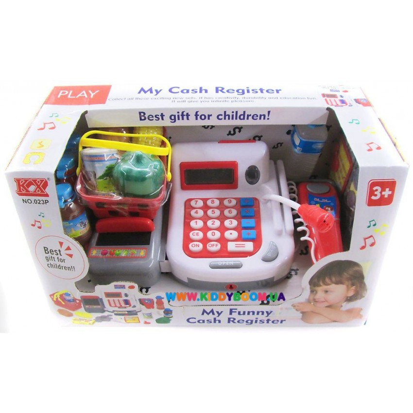 Касовий апарат сканер, калькулятор, кошик, звук. 7300