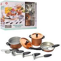 Набір посуд: каструля, сковорідка, кухонний набір мет., 12 предм., 86834