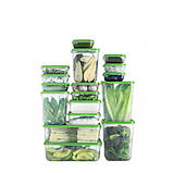 Харчовий контейнер, набір 17 шт., прозорий, зелений ІКЕА PRUTA ПРУТА, 601.496.73, фото 2