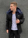 Мужская зимняя куртка Nike black/blue, куртка Найк зимняя, фото 2