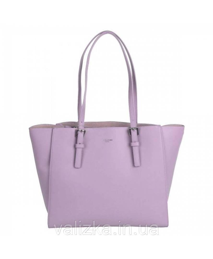 Женская сумка David Jones из экокожи нежно-фиолетовая
