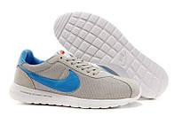 Кроссовки мужские беговые Nike Roshe Run (найк роше ран) cерые 42